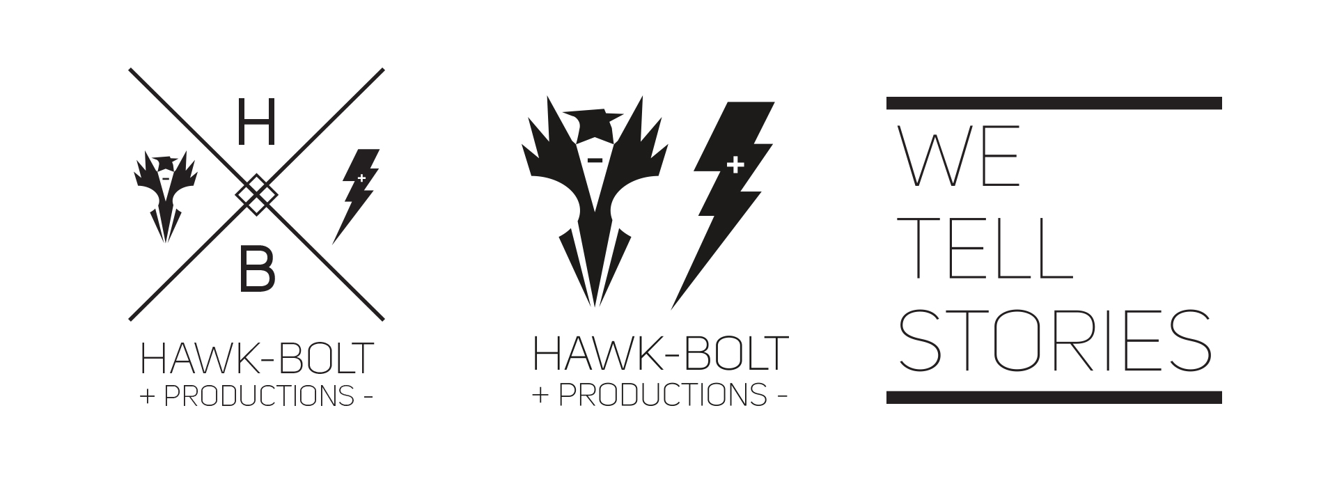 HawkBolt video production logo design mockup