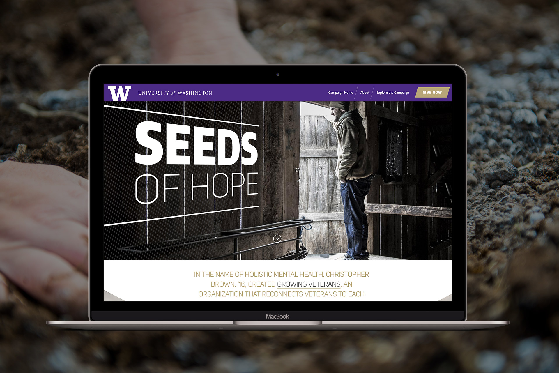 seeds of hope website design thumbnail